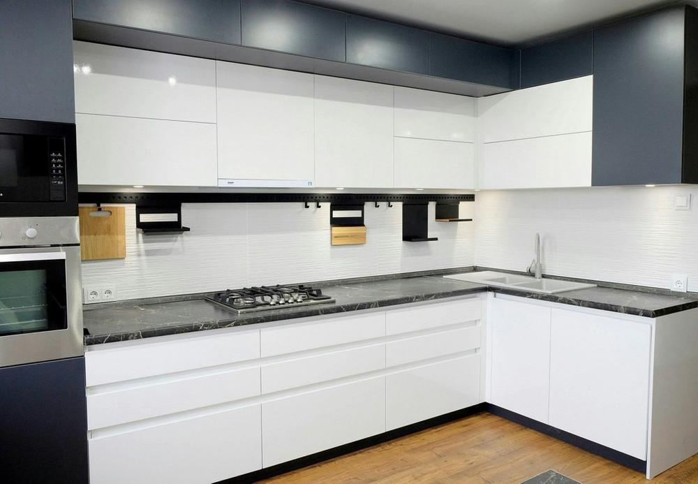 Белый кухонный гарнитур-Кухня МДФ в ПВХ «Модель 81»-фото5