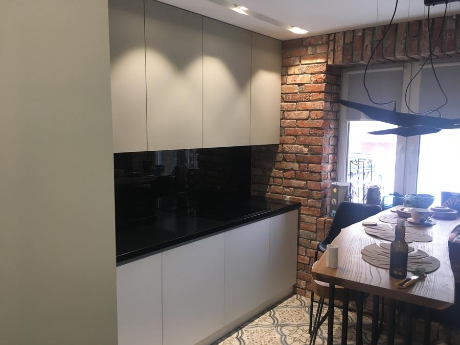 Белый кухонный гарнитур-Кухня МДФ в ПВХ «Модель 66»-фото1