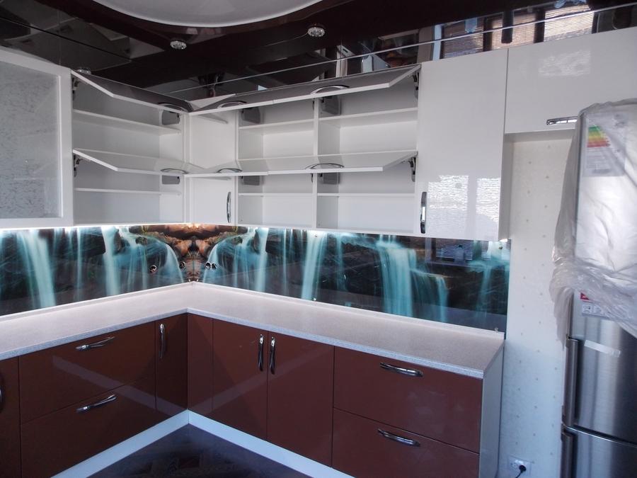 Белый кухонный гарнитур-Кухня из шпона «Модель 14»-фото3