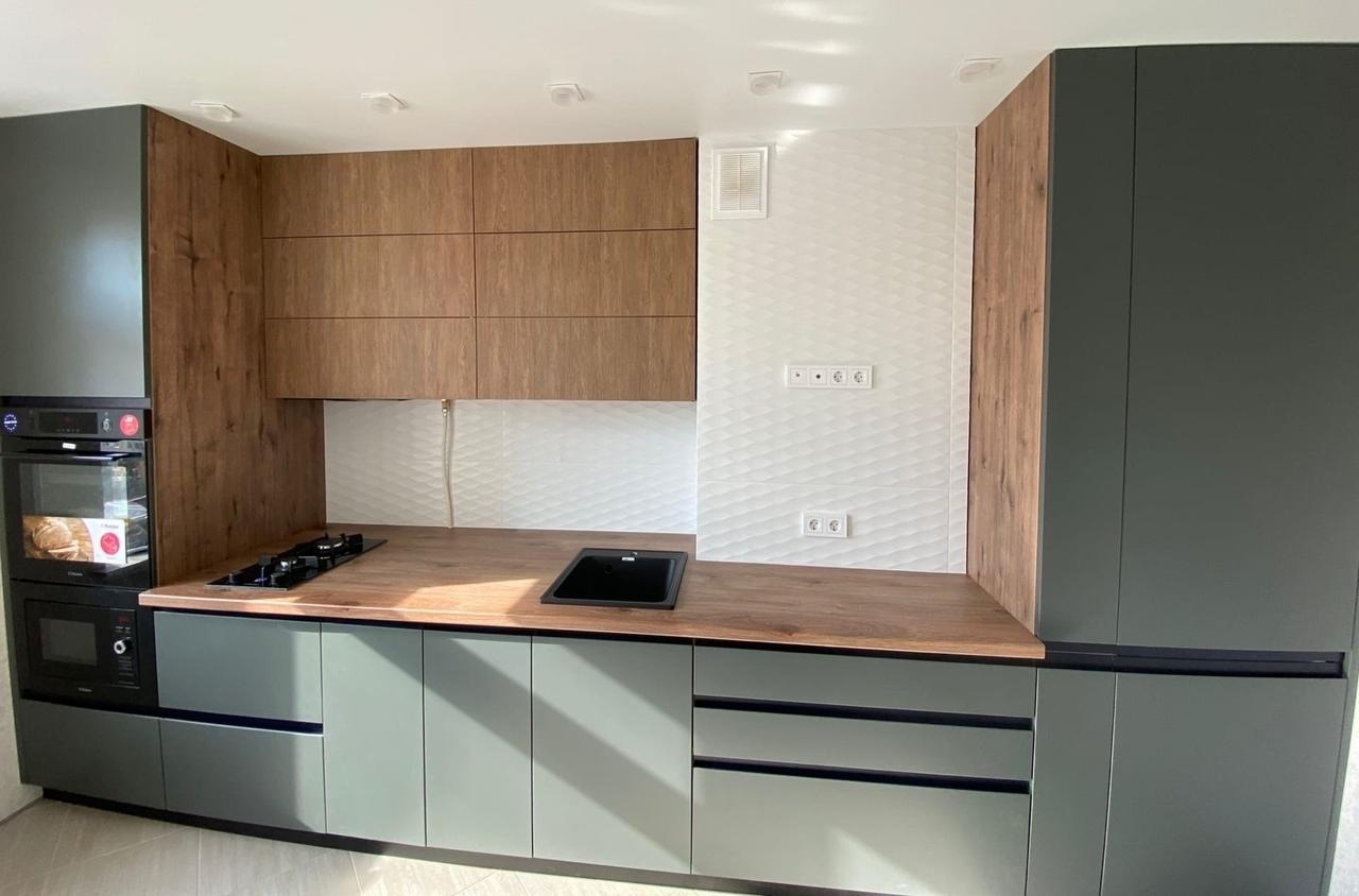 Встроенная кухня-Кухня МДФ в ПВХ «Модель 564»-фото2