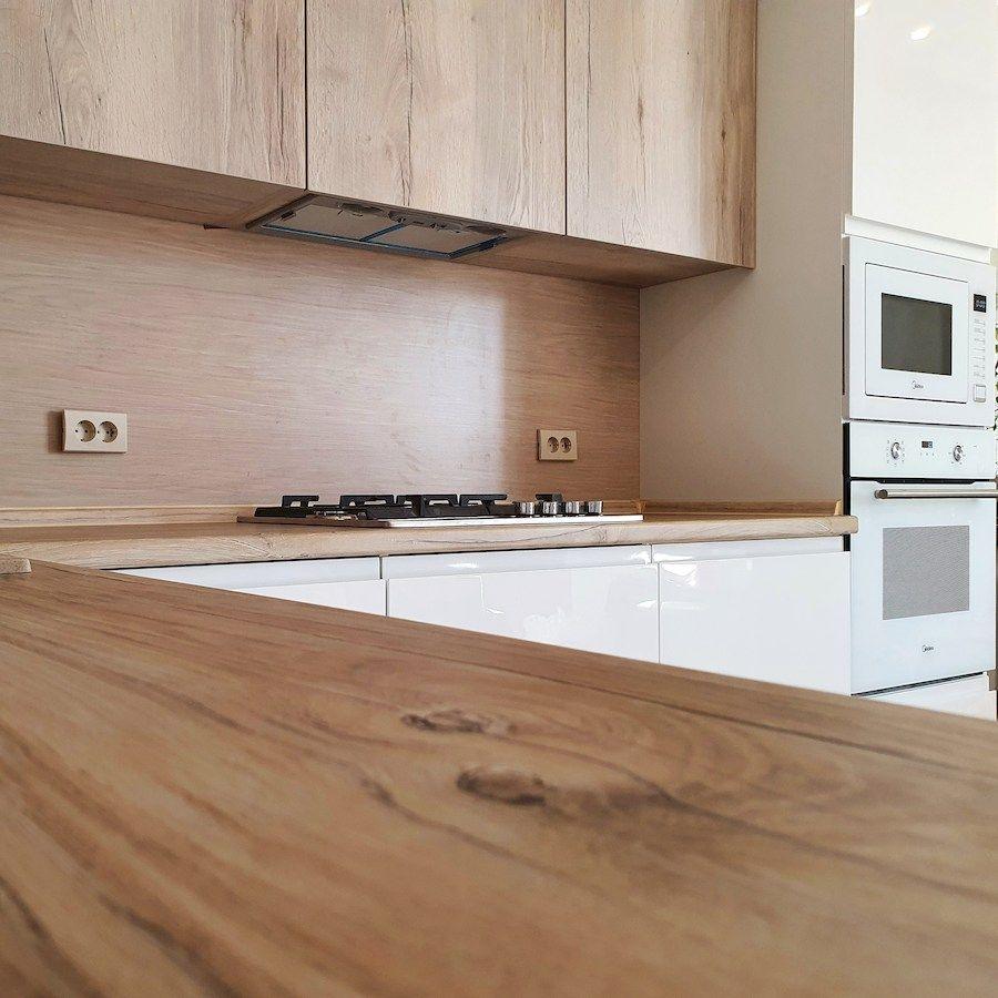 Белый кухонный гарнитур-Кухня МДФ в эмали «Модель 543»-фото3