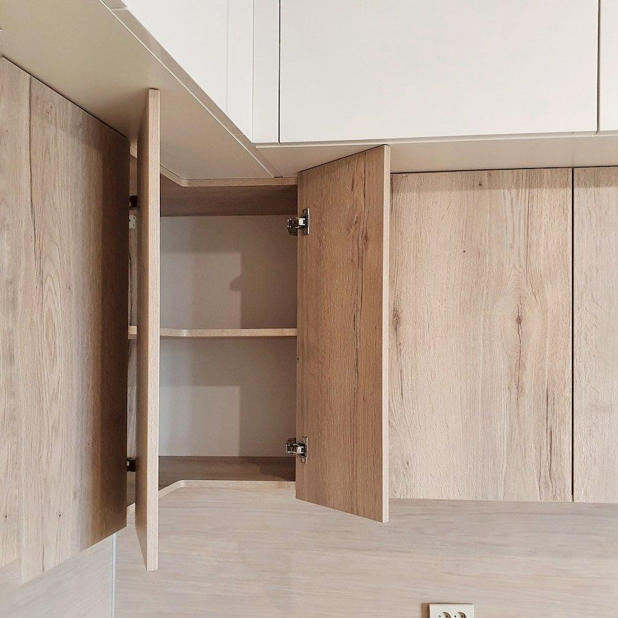 Белый кухонный гарнитур-Кухня МДФ в эмали «Модель 543»-фото5