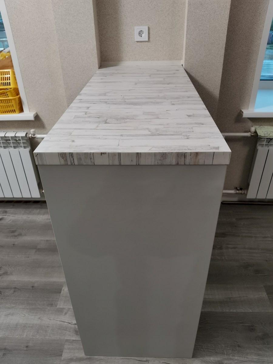 Белый кухонный гарнитур-Кухня МДФ в ПВХ «Модель 580»-фото5