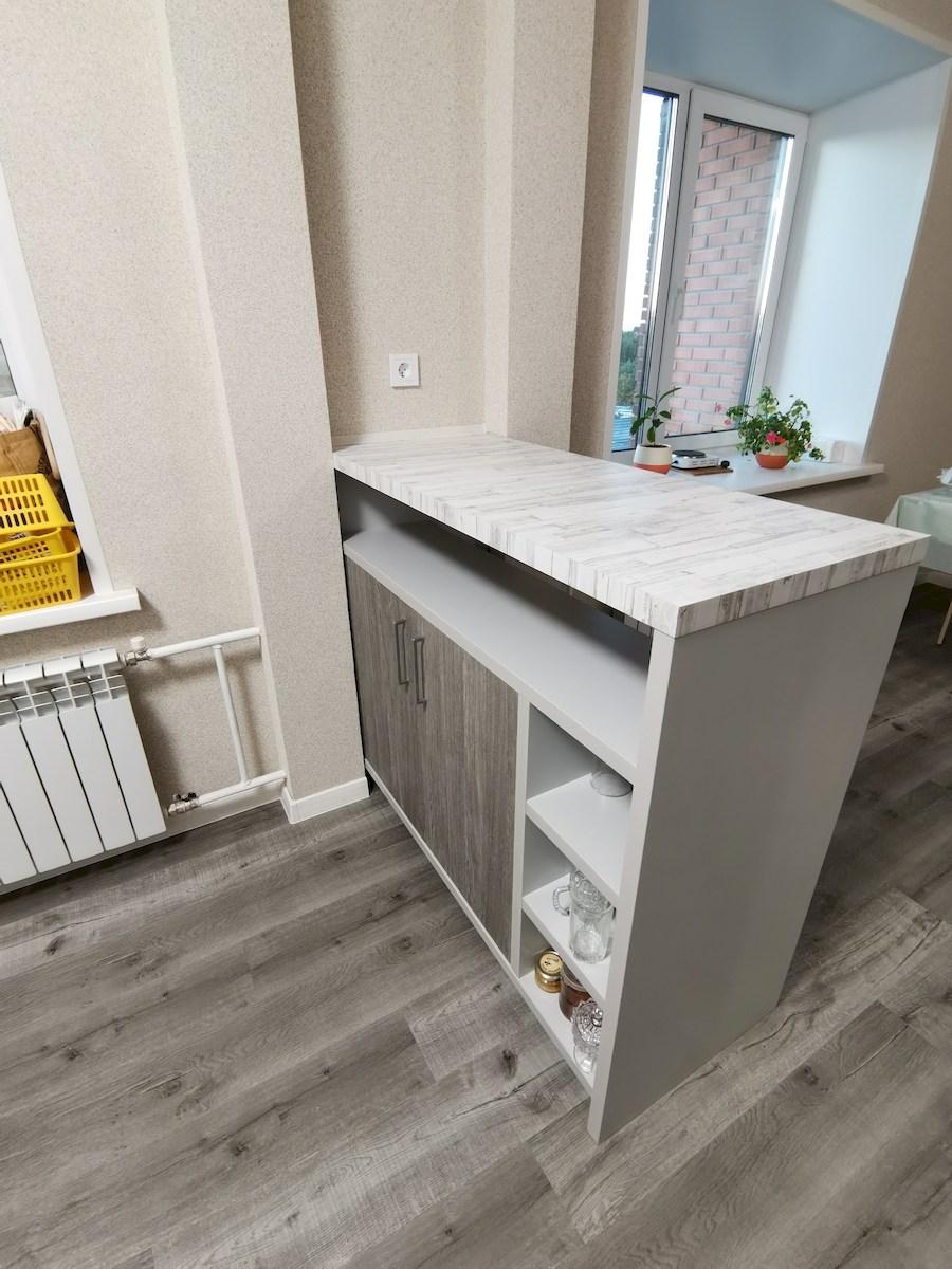 Белый кухонный гарнитур-Кухня МДФ в ПВХ «Модель 580»-фото6