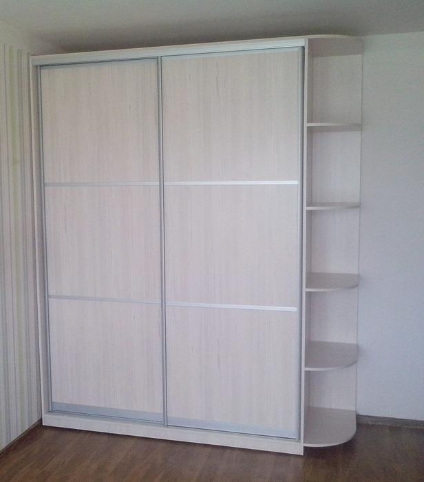 Белые шкафы-купе-Шкаф-купе из ЛДСП «Модель 27»-фото1