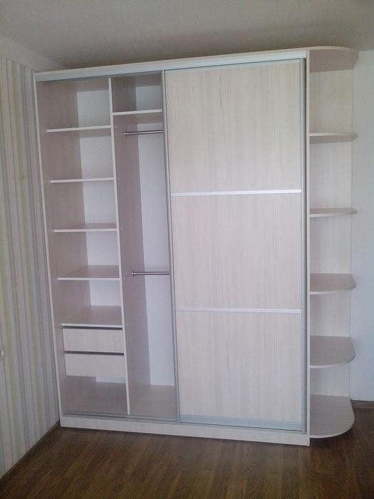 Белые шкафы-купе-Шкаф-купе из ЛДСП «Модель 27»-фото3
